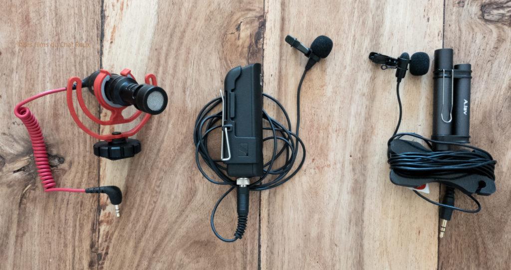 Différents micros pour se filmer avec son smartphone et enregistrer un bon son